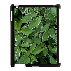 Texture Leaves Light Sun Green Apple Ipad 3/4 Case (black)