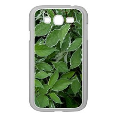 Texture Leaves Light Sun Green Samsung Galaxy Grand Duos I9082 Case (white)