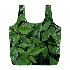 Texture Leaves Light Sun Green Full Print Recycle Bags (l)  by BangZart