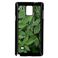 Texture Leaves Light Sun Green Samsung Galaxy Note 4 Case (black)