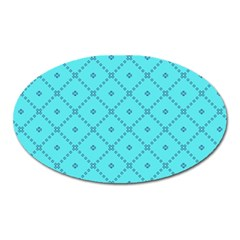 Pattern Background Texture Oval Magnet by BangZart