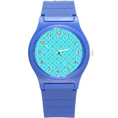 Pattern Background Texture Round Plastic Sport Watch (s) by BangZart