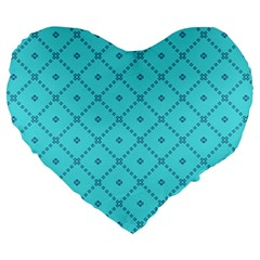 Pattern Background Texture Large 19  Premium Heart Shape Cushions by BangZart