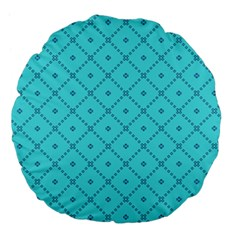 Pattern Background Texture Large 18  Premium Flano Round Cushions by BangZart