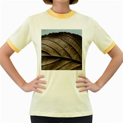 Leaf Veins Nerves Macro Closeup Women s Fitted Ringer T Shirts