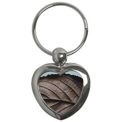 Leaf Veins Nerves Macro Closeup Key Chains (heart)  by BangZart