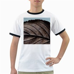 Leaf Veins Nerves Macro Closeup Ringer T Shirts