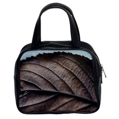 Leaf Veins Nerves Macro Closeup Classic Handbags (2 Sides)