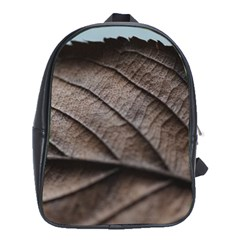 Leaf Veins Nerves Macro Closeup School Bags (xl)