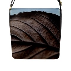 Leaf Veins Nerves Macro Closeup Flap Messenger Bag (l)  by BangZart