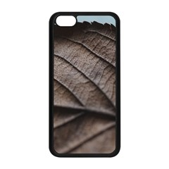 Leaf Veins Nerves Macro Closeup Apple Iphone 5c Seamless Case (black) by BangZart