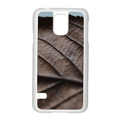 Leaf Veins Nerves Macro Closeup Samsung Galaxy S5 Case (white)