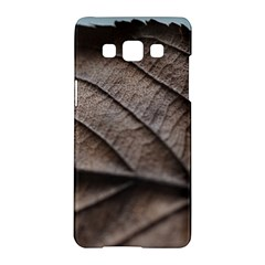 Leaf Veins Nerves Macro Closeup Samsung Galaxy A5 Hardshell Case  by BangZart
