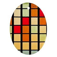 Mozaico Colors Glass Church Color Ornament (oval)