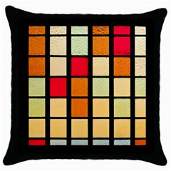 Mozaico Colors Glass Church Color Throw Pillow Case (black) by BangZart