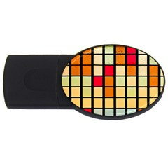 Mozaico Colors Glass Church Color Usb Flash Drive Oval (2 Gb) by BangZart