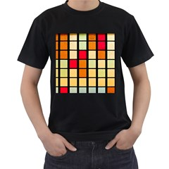 Mozaico Colors Glass Church Color Men s T Shirt (black) (two Sided)