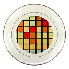 Mozaico Colors Glass Church Color Porcelain Plates by BangZart