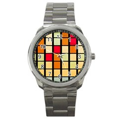 Mozaico Colors Glass Church Color Sport Metal Watch by BangZart