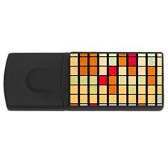 Mozaico Colors Glass Church Color Usb Flash Drive Rectangular (4 Gb) by BangZart