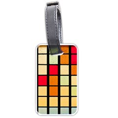 Mozaico Colors Glass Church Color Luggage Tags (one Side)