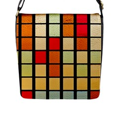 Mozaico Colors Glass Church Color Flap Messenger Bag (l)  by BangZart