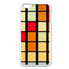 Mozaico Colors Glass Church Color Apple Iphone 6 Plus/6s Plus Enamel White Case by BangZart