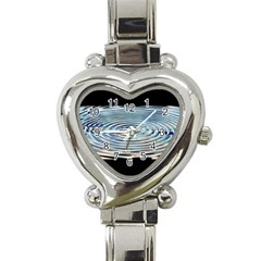 Wave Concentric Waves Circles Water Heart Italian Charm Watch by BangZart