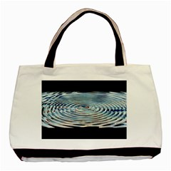 Wave Concentric Waves Circles Water Basic Tote Bag by BangZart