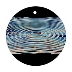 Wave Concentric Waves Circles Water Round Ornament (two Sides) by BangZart