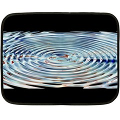 Wave Concentric Waves Circles Water Fleece Blanket (mini) by BangZart