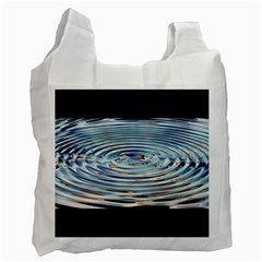 Wave Concentric Waves Circles Water Recycle Bag (two Side)