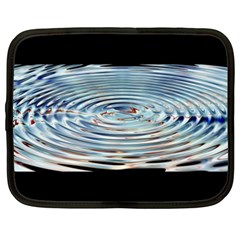 Wave Concentric Waves Circles Water Netbook Case (xxl)  by BangZart