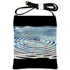 Wave Concentric Waves Circles Water Shoulder Sling Bags by BangZart