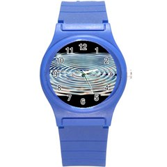 Wave Concentric Waves Circles Water Round Plastic Sport Watch (s) by BangZart