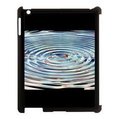 Wave Concentric Waves Circles Water Apple Ipad 3/4 Case (black) by BangZart