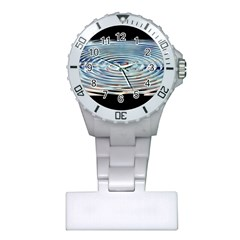 Wave Concentric Waves Circles Water Plastic Nurses Watch by BangZart