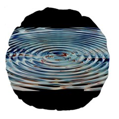Wave Concentric Waves Circles Water Large 18  Premium Flano Round Cushions