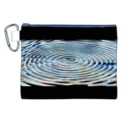 Wave Concentric Waves Circles Water Canvas Cosmetic Bag (xxl) by BangZart