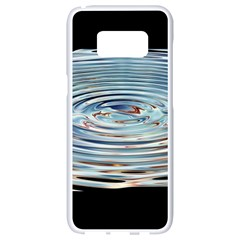 Wave Concentric Waves Circles Water Samsung Galaxy S8 White Seamless Case