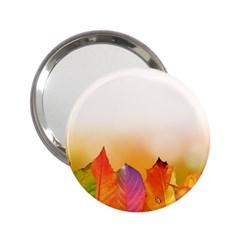 Autumn Leaves Colorful Fall Foliage 2 25  Handbag Mirrors by BangZart
