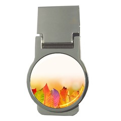 Autumn Leaves Colorful Fall Foliage Money Clips (round)  by BangZart