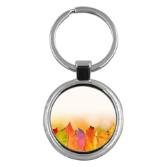 Autumn Leaves Colorful Fall Foliage Key Chains (round)  by BangZart