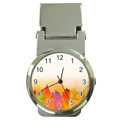 Autumn Leaves Colorful Fall Foliage Money Clip Watches by BangZart
