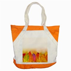 Autumn Leaves Colorful Fall Foliage Accent Tote Bag by BangZart