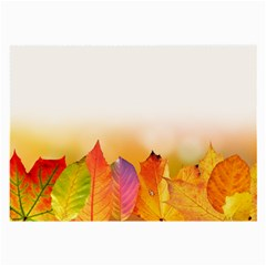 Autumn Leaves Colorful Fall Foliage Large Glasses Cloth by BangZart