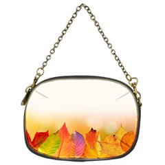 Autumn Leaves Colorful Fall Foliage Chain Purses (two Sides)  by BangZart
