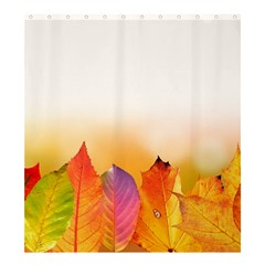 Autumn Leaves Colorful Fall Foliage Shower Curtain 66  X 72  (large)  by BangZart