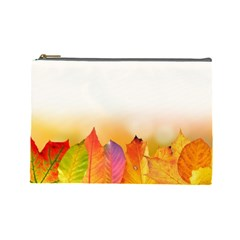 Autumn Leaves Colorful Fall Foliage Cosmetic Bag (large)  by BangZart