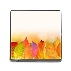 Autumn Leaves Colorful Fall Foliage Memory Card Reader (square)